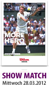 Stefan Edberg bei der 9. Int. Wilson Senior Open